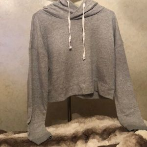 The lounge life cropped hoodie